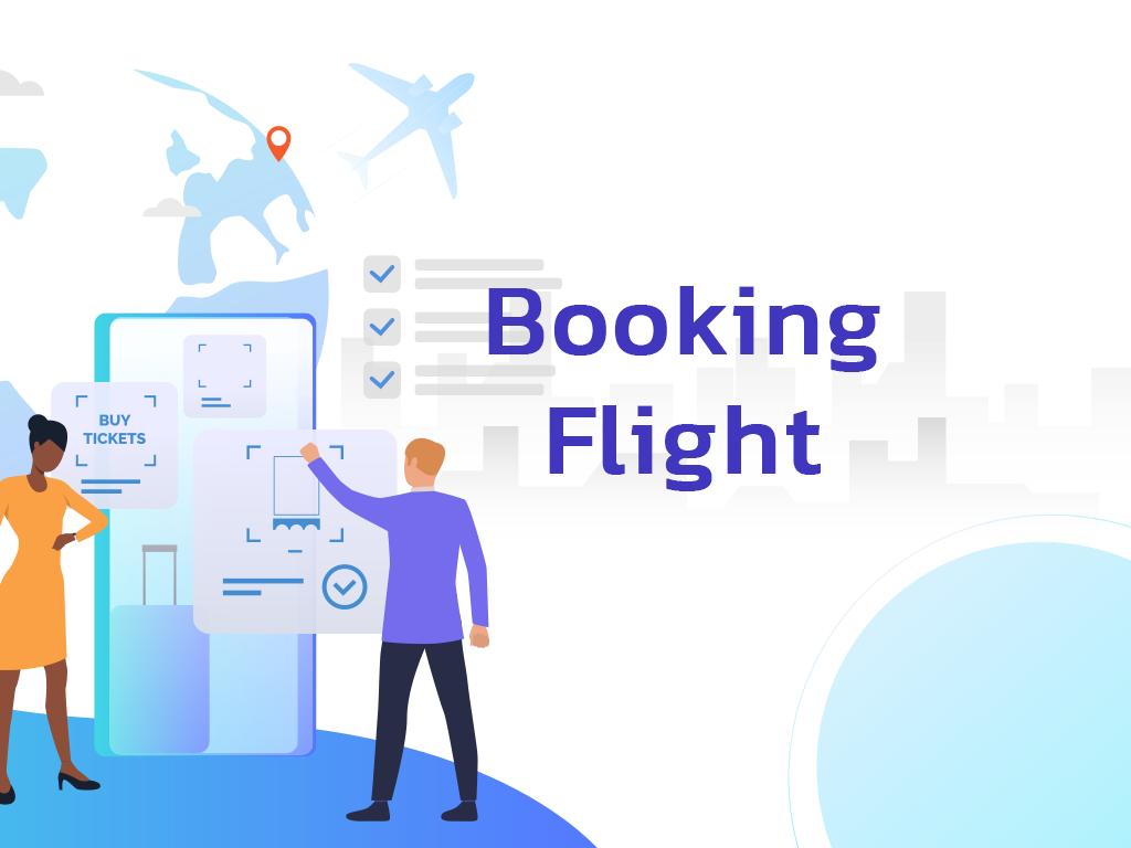 Booking flight Ui developing and Arabization.